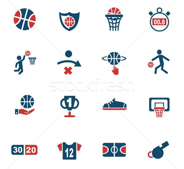 Baloncesto iconos de la web usuario interfaz diseno Foto stock © ayaxmr