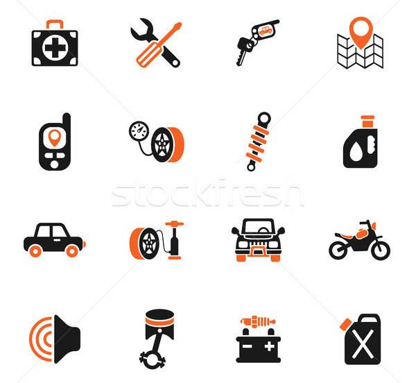 Araba alışveriş web simgeleri kullanıcı arayüz Stok fotoğraf © ayaxmr