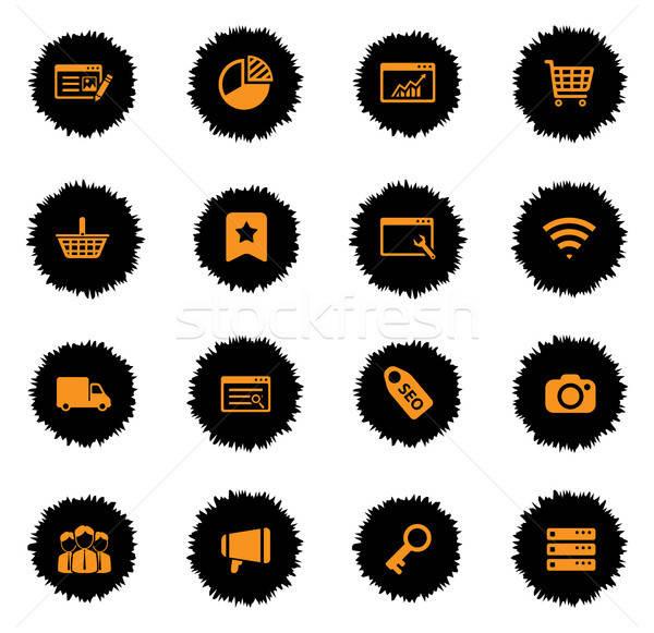 Seo desenvolvimento simplesmente ícones vetor teia Foto stock © ayaxmr