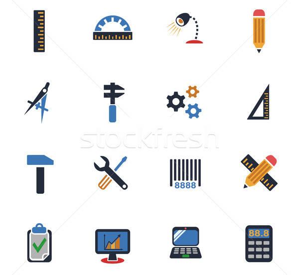 Stock photo: engineering icon set