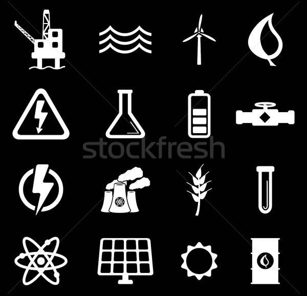 Power generation simply icons Stock photo © ayaxmr