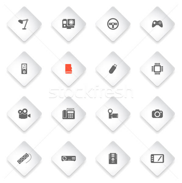 Dispositivos simplesmente ícones símbolos teia usuário Foto stock © ayaxmr