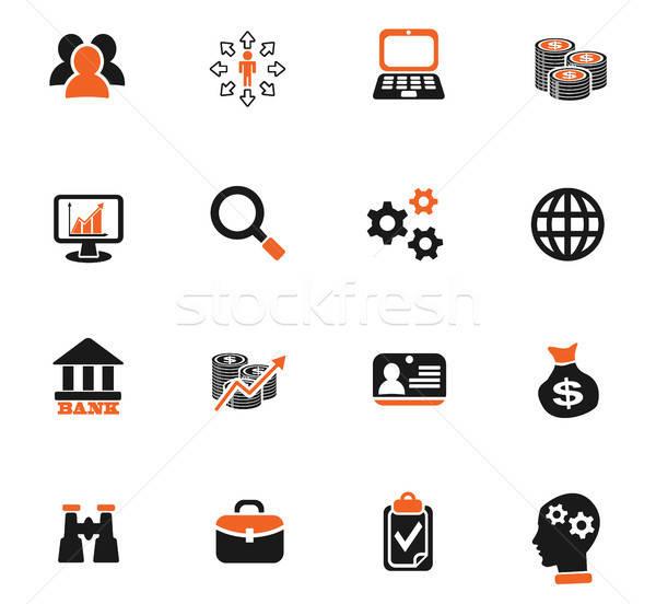Działalności zarządzania ludzi zasoby web ikony Zdjęcia stock © ayaxmr