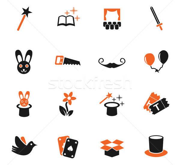 Magia os ícones do web usuário interface projeto Foto stock © ayaxmr