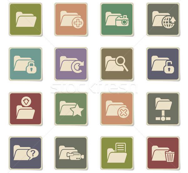 Cartella icone web utente interfaccia design Foto d'archivio © ayaxmr