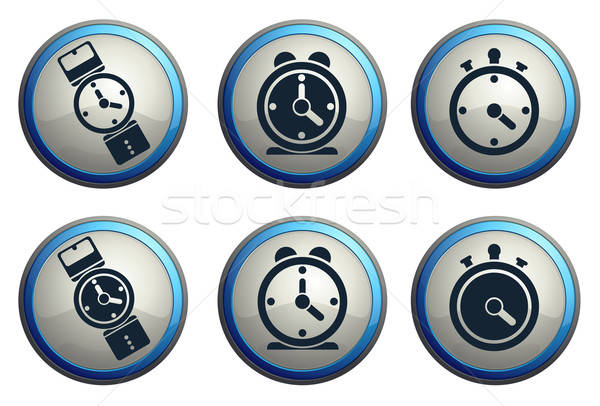 vector clocks icons Stock photo © ayaxmr