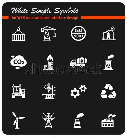 Сток-фото: промышленности · просто · иконки · веб · пользователь