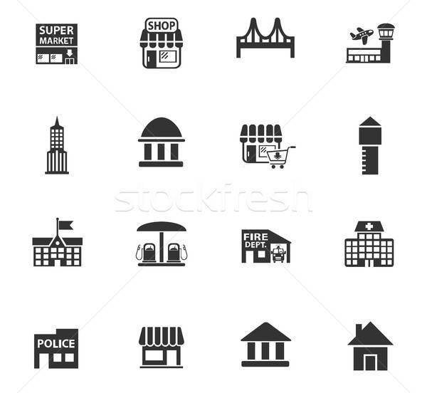 Infra-estrutura os ícones do web usuário interface projeto Foto stock © ayaxmr