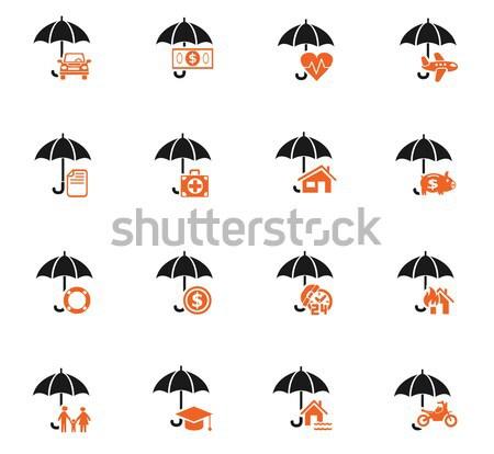 Stock photo: insurance icon set