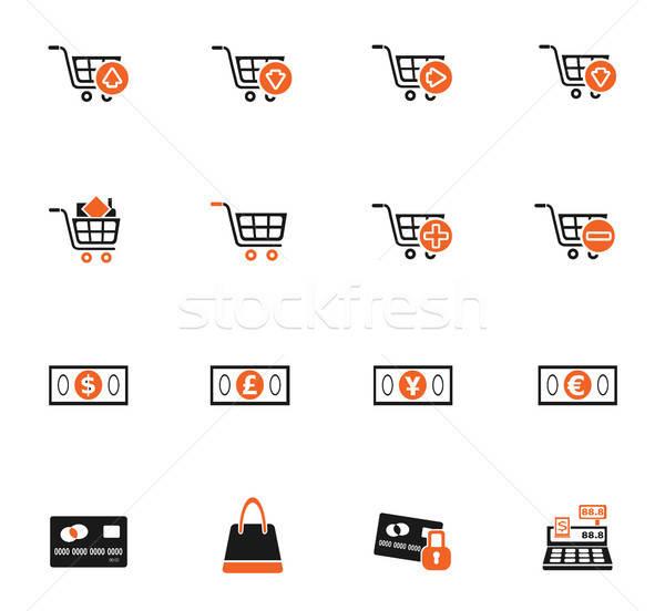 Pazarlama e-ticaret simgeler web kullanıcı Stok fotoğraf © ayaxmr