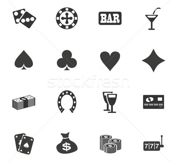 Casino web icons gebruiker interface ontwerp Stockfoto © ayaxmr