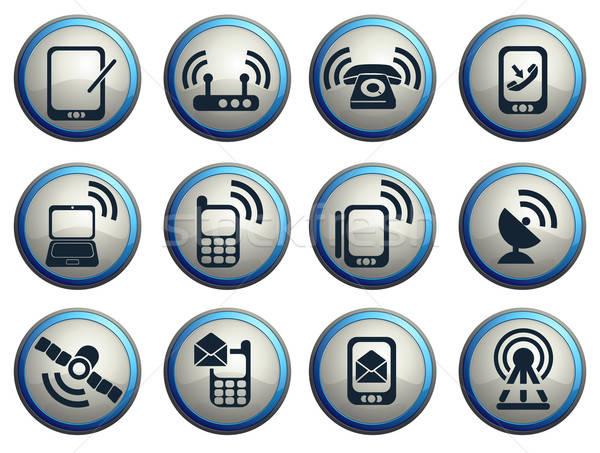 мобильных икона веб пользователь интерфейс Сток-фото © ayaxmr