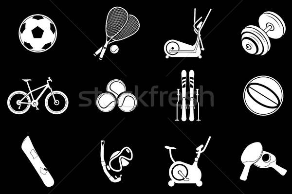 Sport equipment symbols Stock photo © ayaxmr