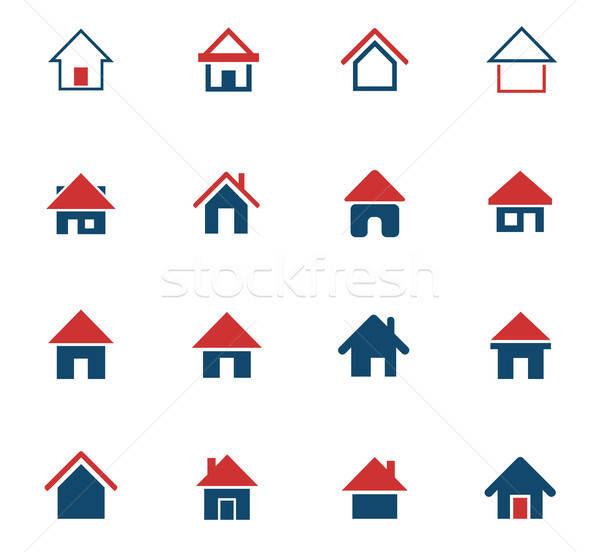 Home icone web utente interfaccia design Foto d'archivio © ayaxmr