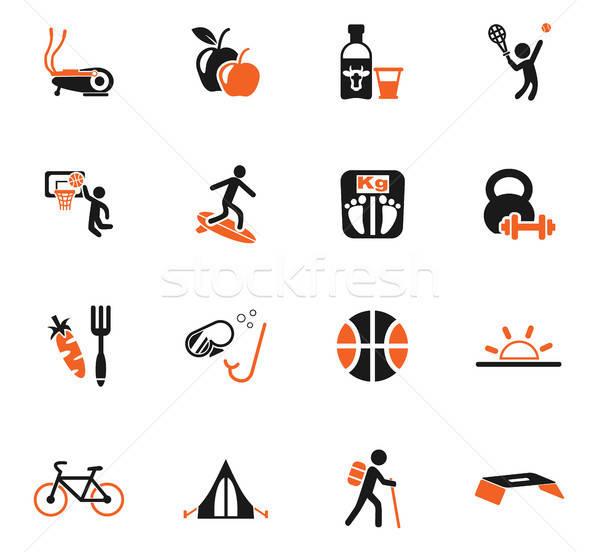 healthy lifestyle icon set Stock photo © ayaxmr