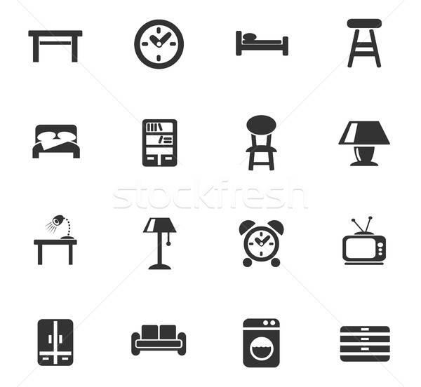 Meubels web icons gebruiker interface ontwerp Stockfoto © ayaxmr