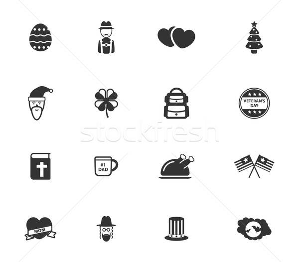 Férias simplesmente ícones símbolo os ícones do web usuário Foto stock © ayaxmr