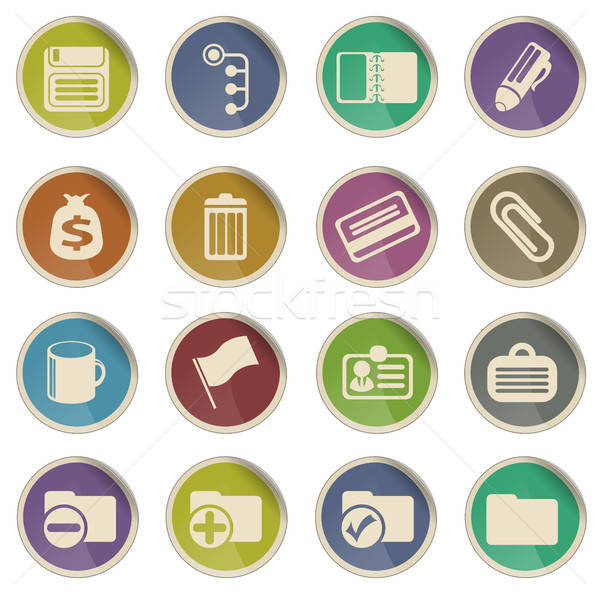 Office simple icons Stock photo © ayaxmr