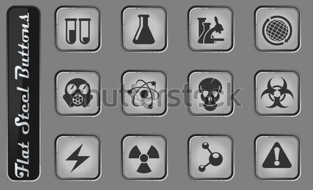 Hazard Sign Icons Stock photo © ayaxmr