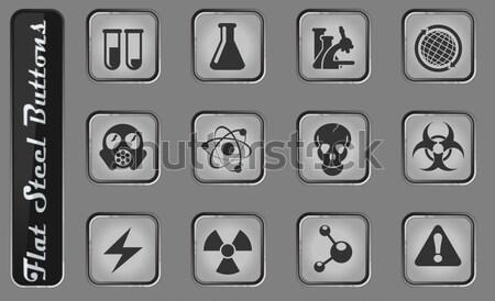 опасность знак иконки просто веб Сток-фото © ayaxmr