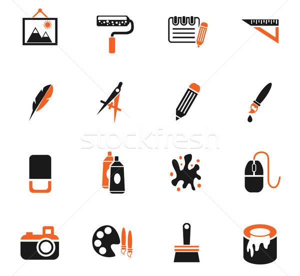 Sanat araçları web simgeleri kullanıcı arayüz Stok fotoğraf © ayaxmr