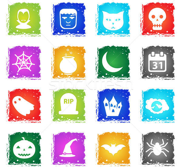 Halloween simply icons Stock photo © ayaxmr