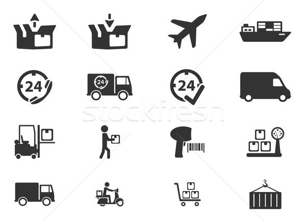 Delivery simply icons Stock photo © ayaxmr
