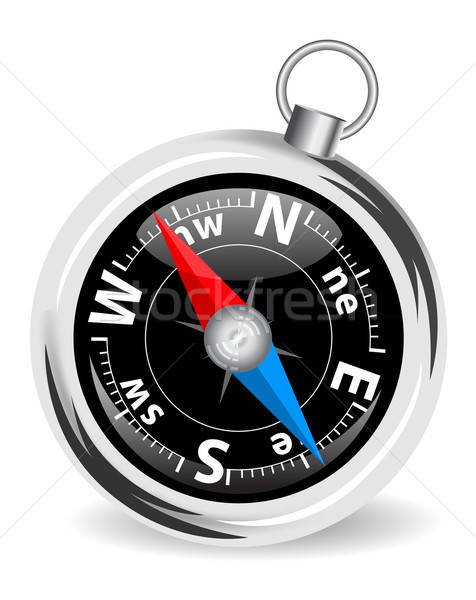 illustration of the steel compass Stock photo © ayaxmr
