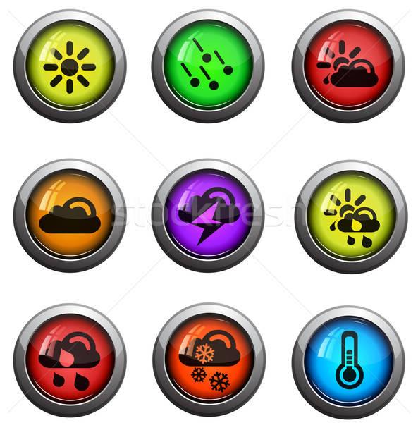 Meteo lucido icone sito web utente Foto d'archivio © ayaxmr