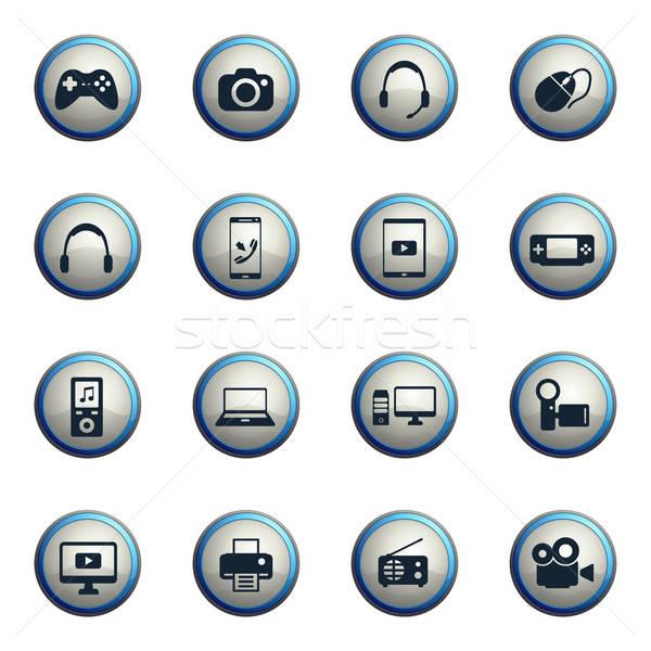 Kütyük egyszerűen ikonok ikon szett háló felhasználó Stock fotó © ayaxmr