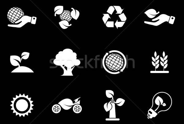 Ecology Icons Stock photo © ayaxmr
