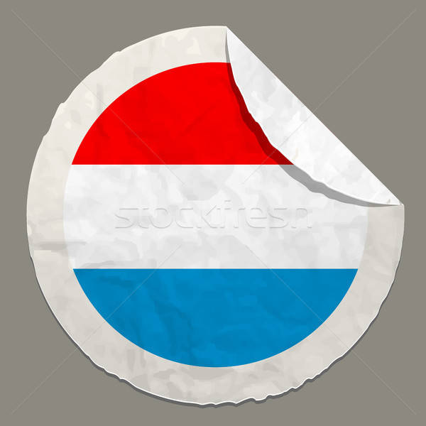 Bayrak kâğıt etiket simge Stok fotoğraf © ayaxmr