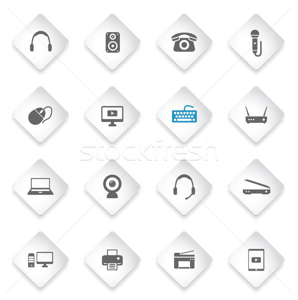 Devices simply icons Stock photo © ayaxmr
