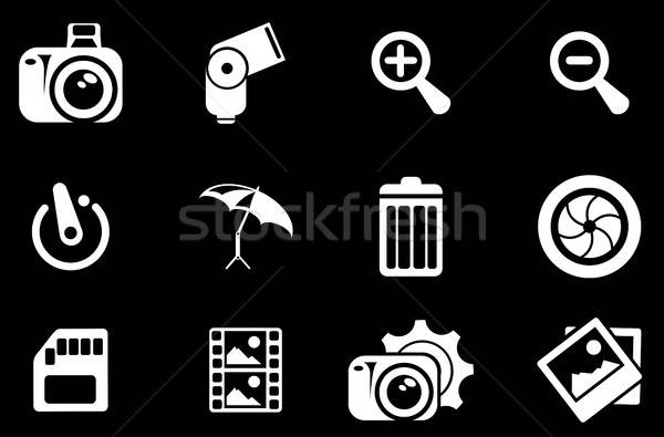 Photography Silhouette Icons Stock photo © ayaxmr