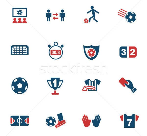 Fútbol iconos de la web usuario interfaz diseno Foto stock © ayaxmr