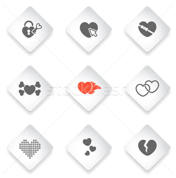 Stock photo: Heart simply icons