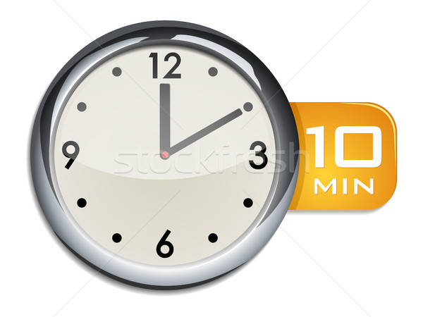 office wall clock timer 10 minutes Stock photo © ayaxmr
