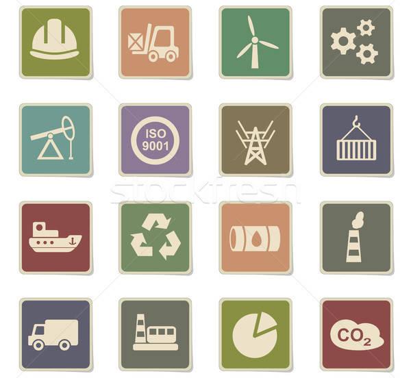 Industrie web icons gebruiker interface ontwerp Stockfoto © ayaxmr