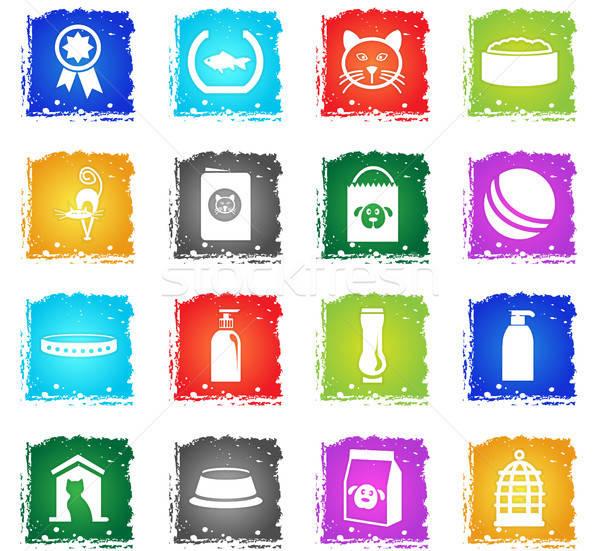 товары домашние вектора веб-иконы Гранж Сток-фото © ayaxmr