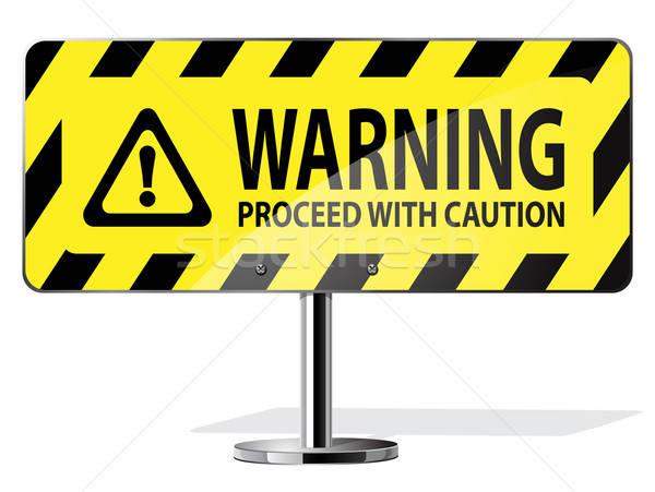 Stockfoto: Waarschuwing · verkeersbord · vector · web