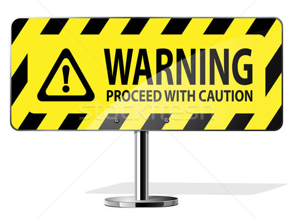 warning sign Stock photo © ayaxmr