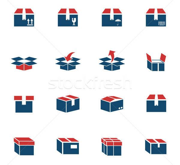 Cuadro iconos de la web usuario interfaz diseno Foto stock © ayaxmr