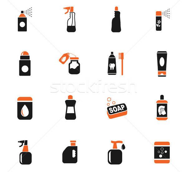Casa productos químicos iconos de la web usuario interfaz Foto stock © ayaxmr