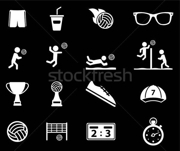 Voleibol simplesmente ícones teia usuário interface Foto stock © ayaxmr