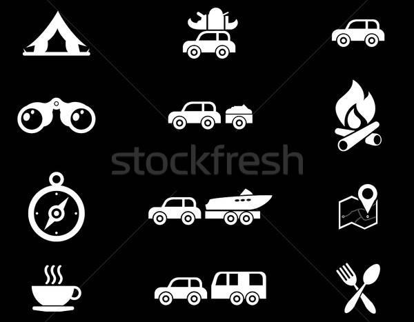 Turismo viaje iconos simplemente símbolos web Foto stock © ayaxmr