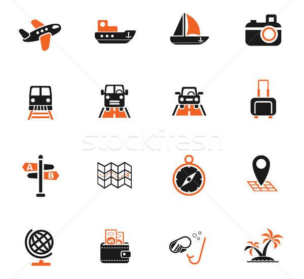Seyahat web simgeleri kullanıcı arayüz dizayn Stok fotoğraf © ayaxmr