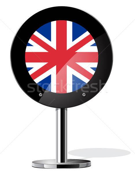 İngilizler imzalamak referandum kavramlar bayrak iş Stok fotoğraf © ayaxmr