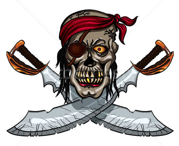 Pirate skull and crossed swords Stock photo © ayaxmr