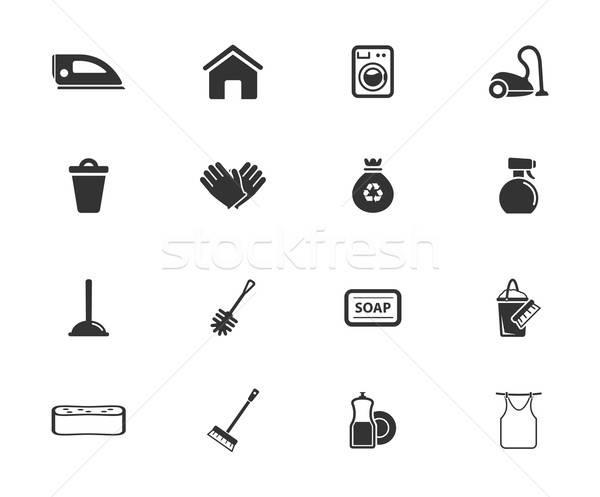 очистки службе просто иконки символ веб-иконы Сток-фото © ayaxmr