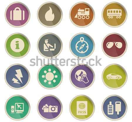 Activo iconos color icono web Foto stock © ayaxmr